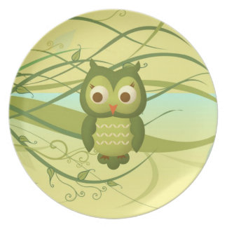Wise Owl Dinner Plate