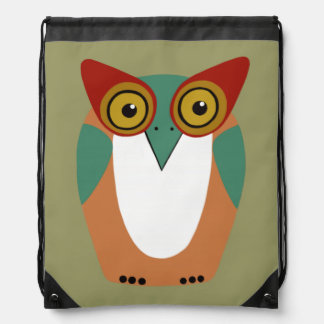 Wise Owl Drawstring Backpack