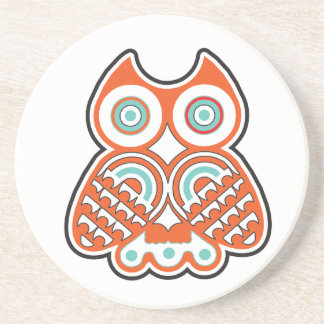 Wise owl drink coaster