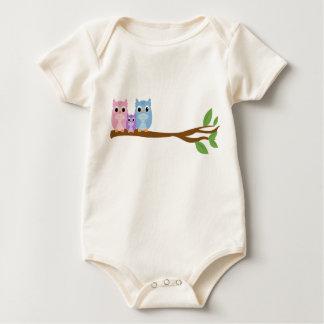 Wise Owl Family Baby Bodysuit