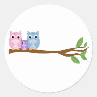 Wise Owl Family Sticker