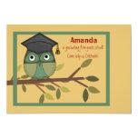 "Wise Owl Graduation Invitation 5"" X 7"" Invitation Card"