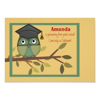 Wise Owl Graduation Invitation