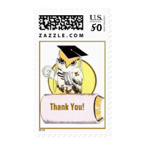 Wise Owl Graduation Postage stamp Mailing Stamps