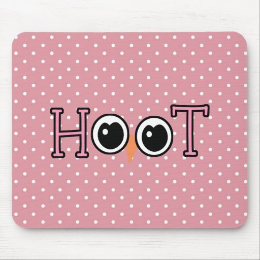 Wise Owl Hoot Mouse Pad