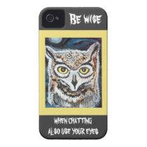Wise Owl I Phone case