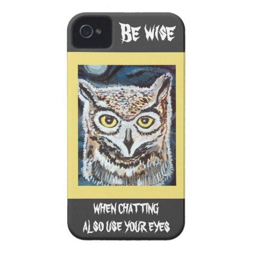 Wise Owl I Phone case Case-Mate iPhone 4 Case