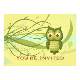 Wise Owl Personalized Invitations