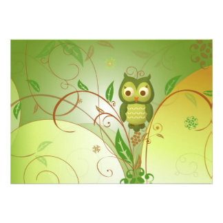 Wise Owl Personalized Announcement