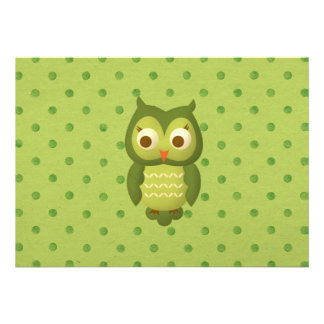 Wise Owl Personalized Invitation