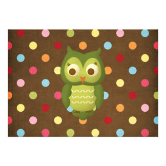 Wise Owl Custom Invitations
