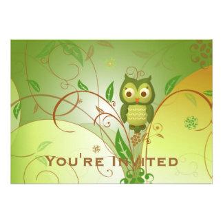 Wise Owl Personalized Invite