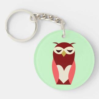 WISE OWL Key Chain Round Acrylic Key Chain