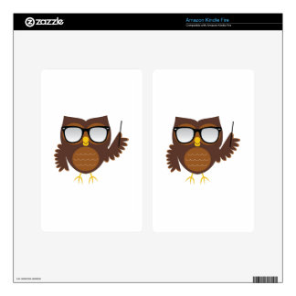 Wise Owl Kindle Fire Decal