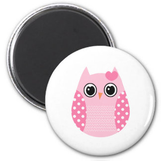 Wise Owl 2 Inch Round Magnet