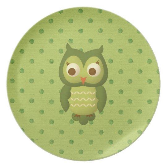 Wise Owl Melamine Plate