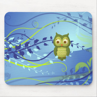 Wise Owl Mouse Pad