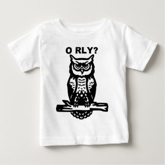 Wise Owl O RLY? Baby T-Shirt