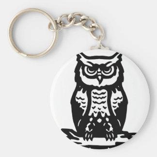 Wise Owl O RLY? Basic Round Button Keychain