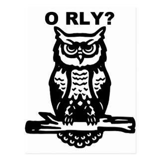 Wise Owl O RLY? Postcard