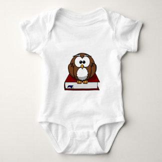 Wise Owl on Book, teacher, wisdom, knowledge study Baby Bodysuit