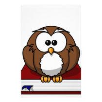 Wise Owl on Book, teacher, wisdom, knowledge study Stationery