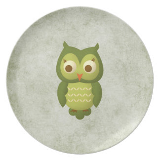 Wise Owl Plate