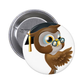 Wise Owl Pointing Sign Buttons