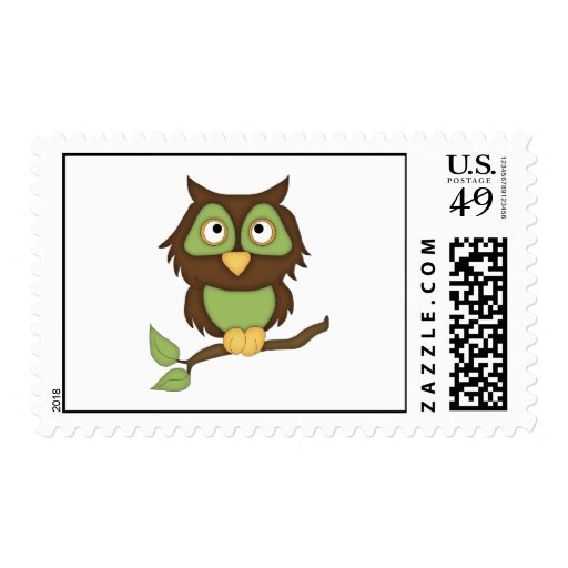 Wise Owl Postage Stamps