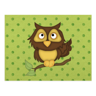 Wise Owl Postcard