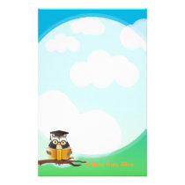 Wise Owl reading book Stationery