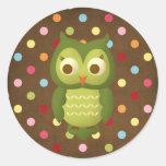 Wise Owl Round Sticker