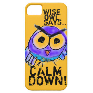 Wise Owl Says... Calm Down! iPhone SE/5/5s Case