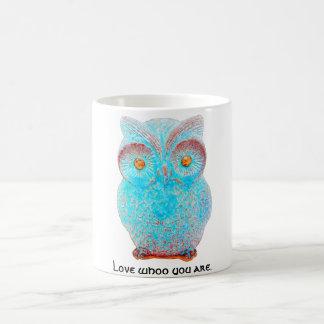 "Wise Owl says ""Love Whoo You Are."" Coffee Mug"
