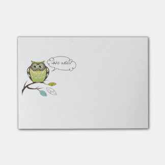 Wise Owl Speech Bubble Post-It Notes Post-it® Notes