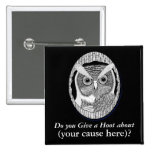 Wise Owl Support Badge Button