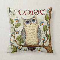 Wise Owl - Throw Pillow
