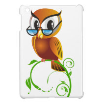 Wise owl w glasses iPad mini cases