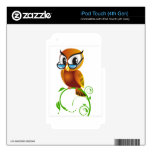Wise owl with glasses iPod touch 4G skin