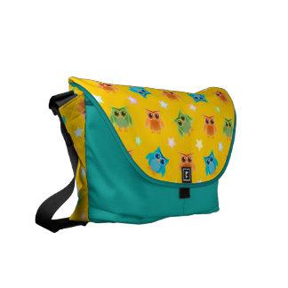 Wise Owls School Messenger Bags