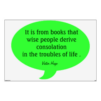wise people quote in bright green wall decal