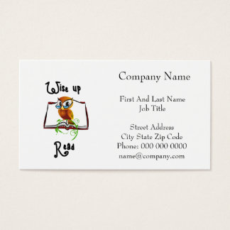 Wise Perched Book Owl Business Card