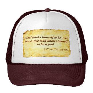 Wise quote trucker hat