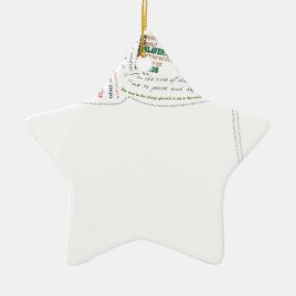 Wise Quotes Ceramic Ornament
