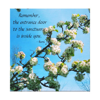 Wise Quotes Spring Floral Canvas Print