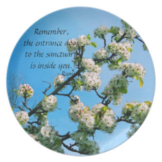 Wise Quotes Spring Floral Melamine Plate