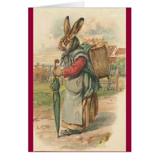 Wise Rabbit Easter Card