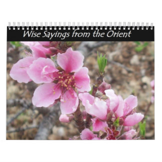 Wise Sayings from the Orient Wall Calendar