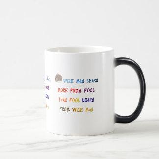 Wise sayings magic mug