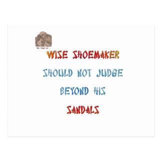 Wise shoemaker should not judge beyond his ... postcard